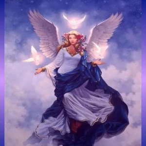 angel in purple