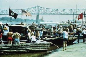 Owensboro Flatboat race 1979